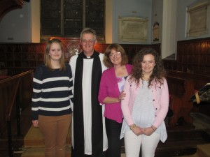 Emma, Revd Andrew, Julie and Claire Ison